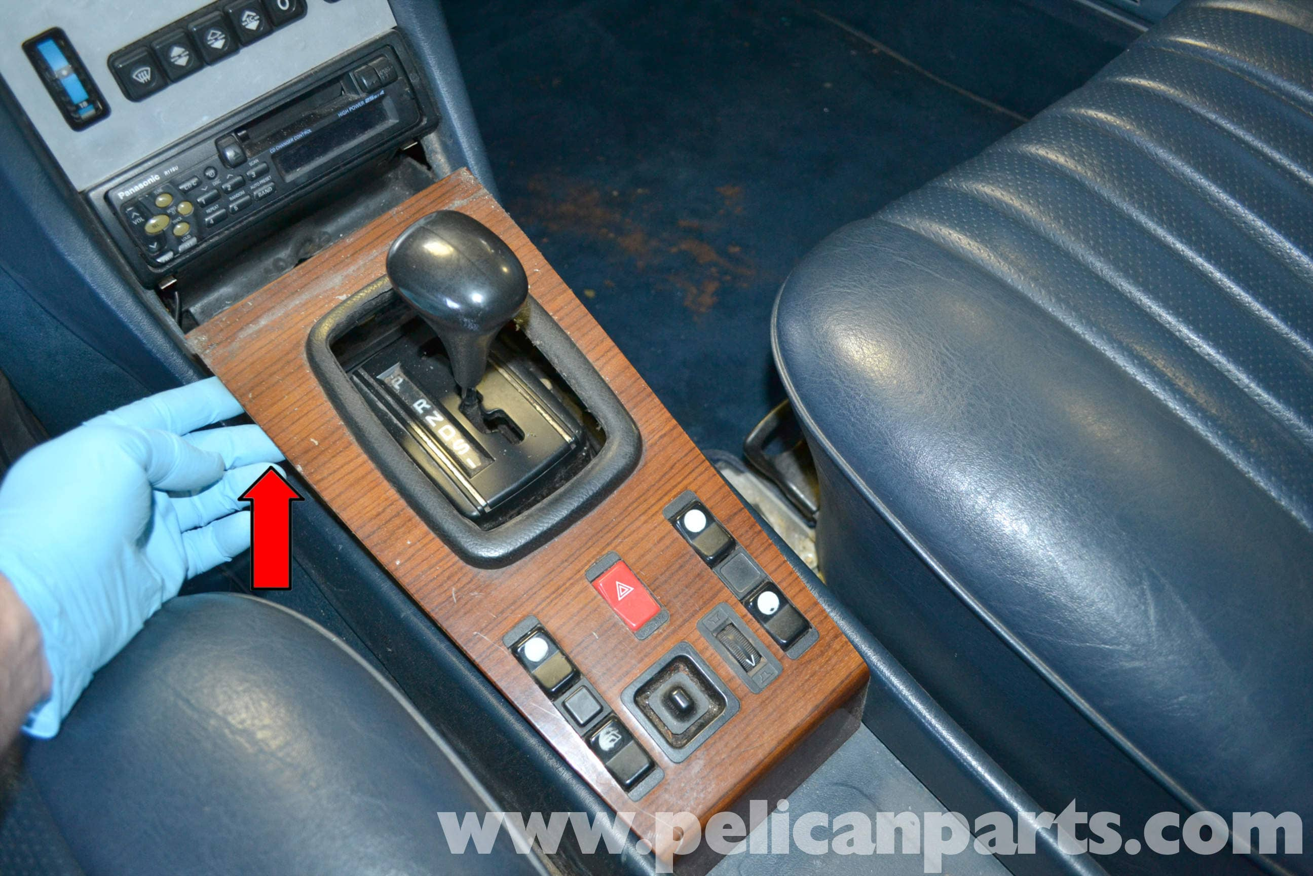 Mercedes Benz W123 Lower Center Console And Switch Replacement 300d Window Wiring Diagram Large Image Extra