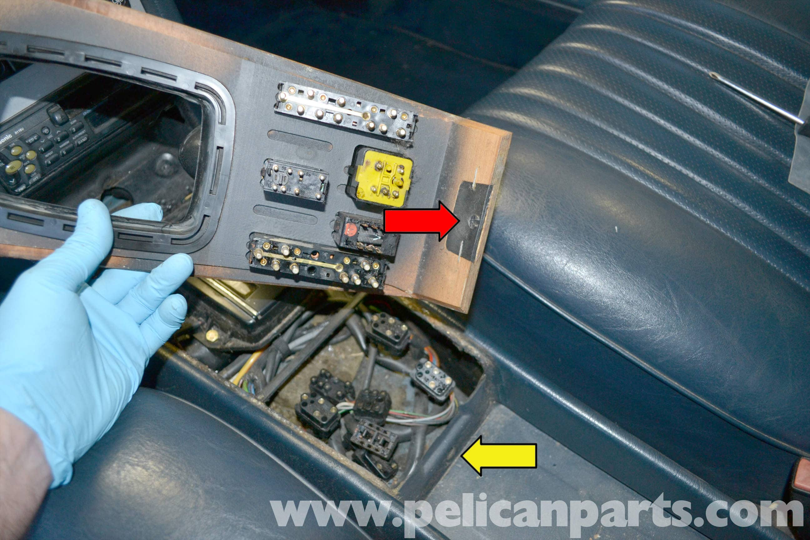 Mercedes Benz W123 Lower Center Console And Switch Replacement 300d Window Wiring Diagram Large Image