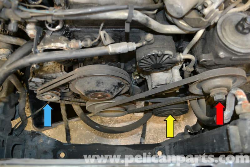 Mercedes-Benz W123 Drive Belts Replacement | 300TD 1977-1985 ...