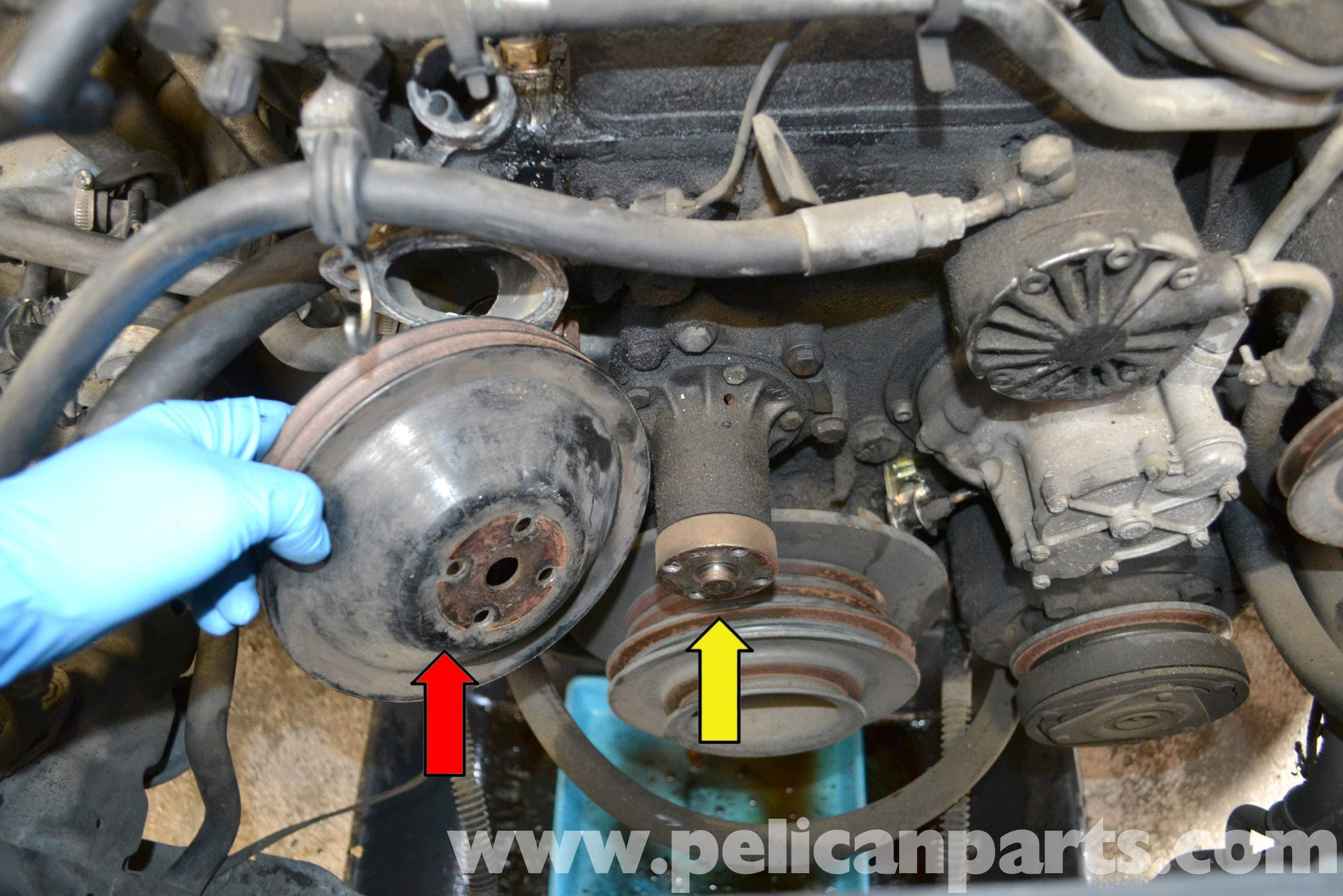 Mercedes-Benz W123 Water Pump Replacement | 300TD 1977-1985