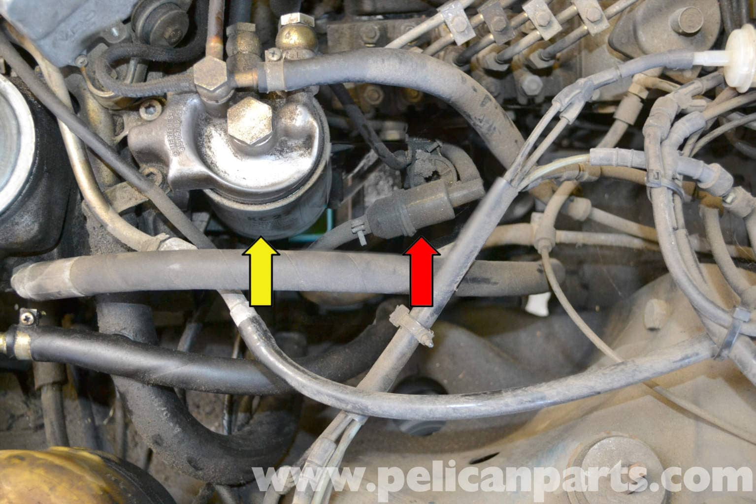 Clear Coolant Inline Fuel Filter Wiring Diagram Car Mercedes Benz W123 Replacement 300td 1977 1985 Universal