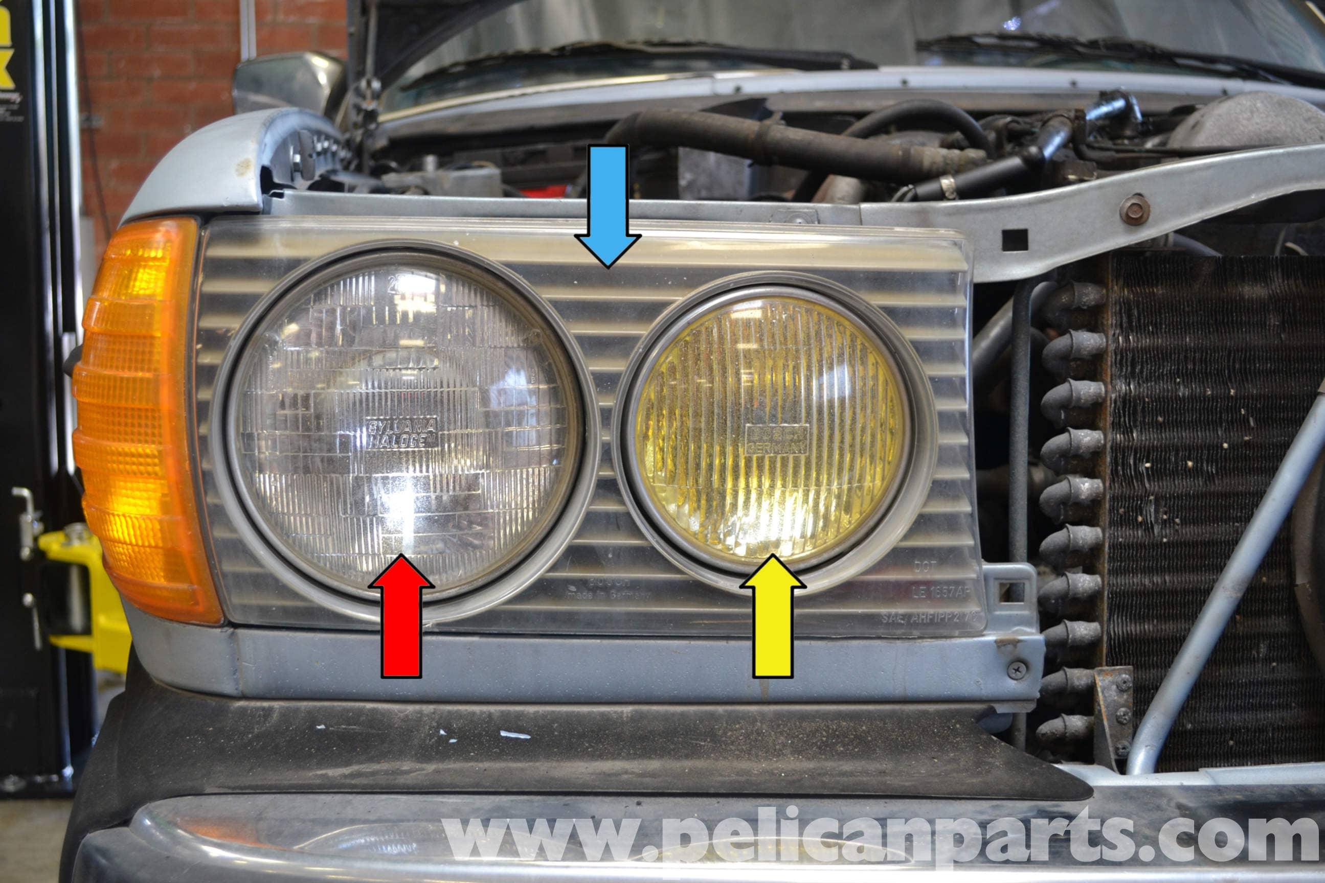 Mercedes benz w123 headlight and fog light replacement for Mercedes benz headlight replacement
