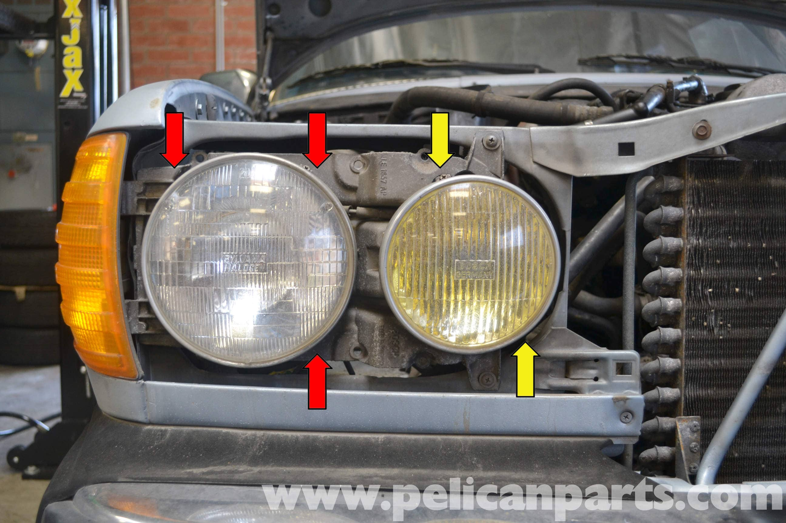 Mercedes Benz W123 Headlight And Fog Light Replacement 300td 1977 240d Wiring Diagram Large Image