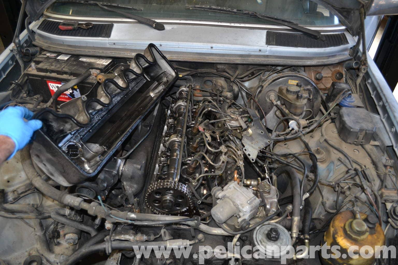 Mercedes benz w123 valve adjustment 300td 1977 1985 for Mercedes benz engine number check