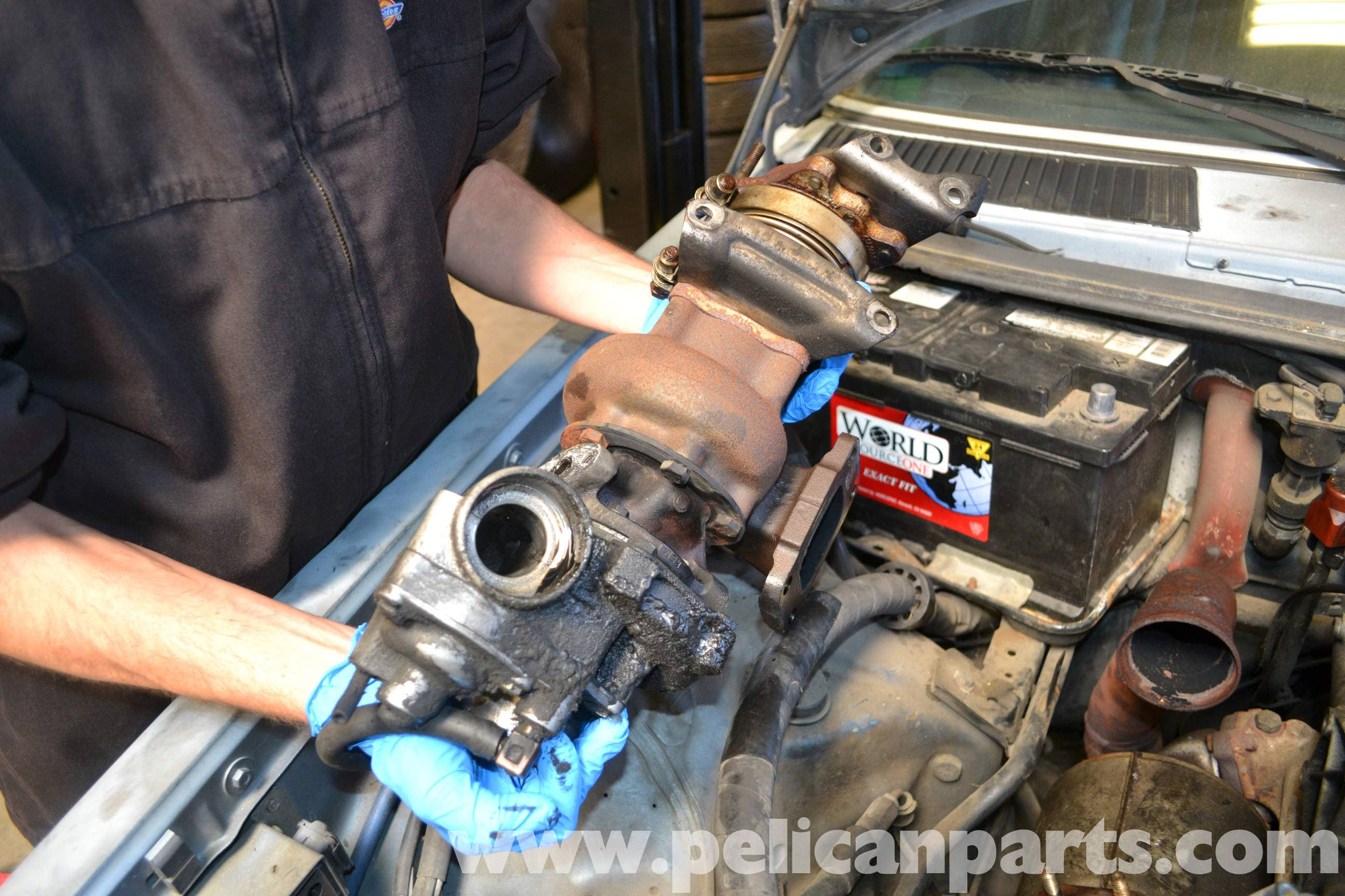 Mercedes-Benz W123 Turbo Removal | 300TD 1977-1985 | Pelican
