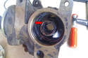 Now you can remove and replace the O-ring inside the body of the pump (red arrow).