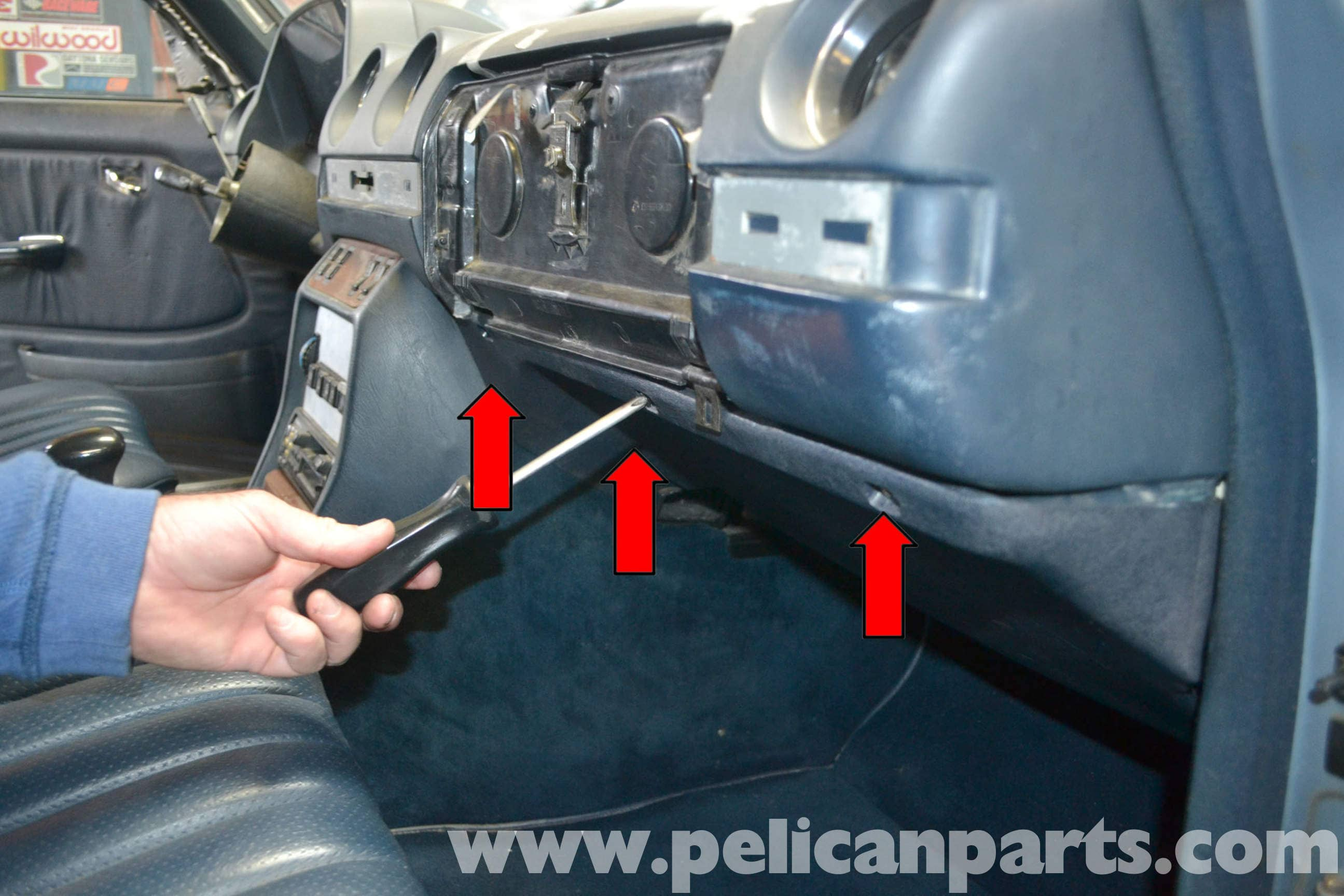 Mercedes Benz W123 Under Dash Panel Removal W123 1977
