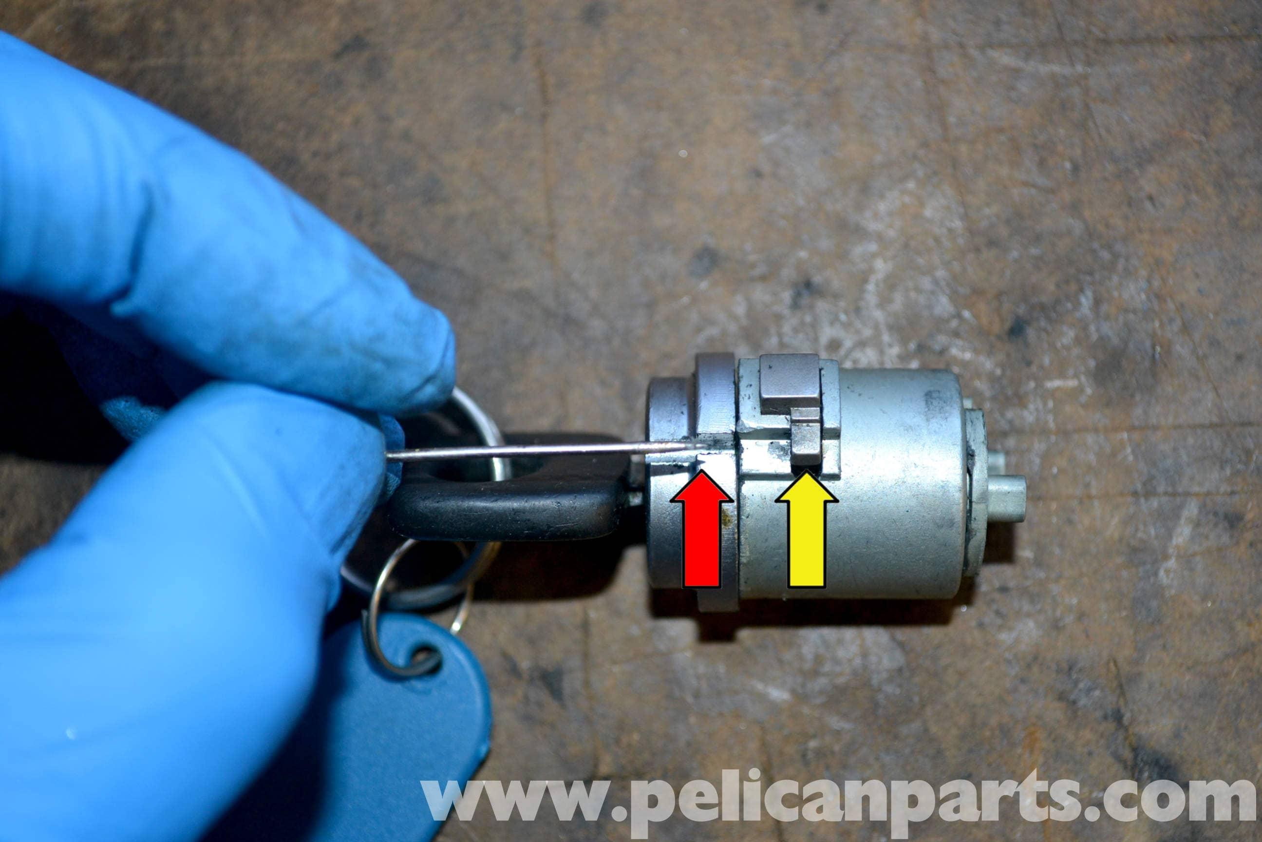 Mercedes Benz Parts Online >> Mercedes-Benz W123 Ignition Tumbler Removal | W123 (1977-1985) | Pelican Parts DIY Maintenance ...