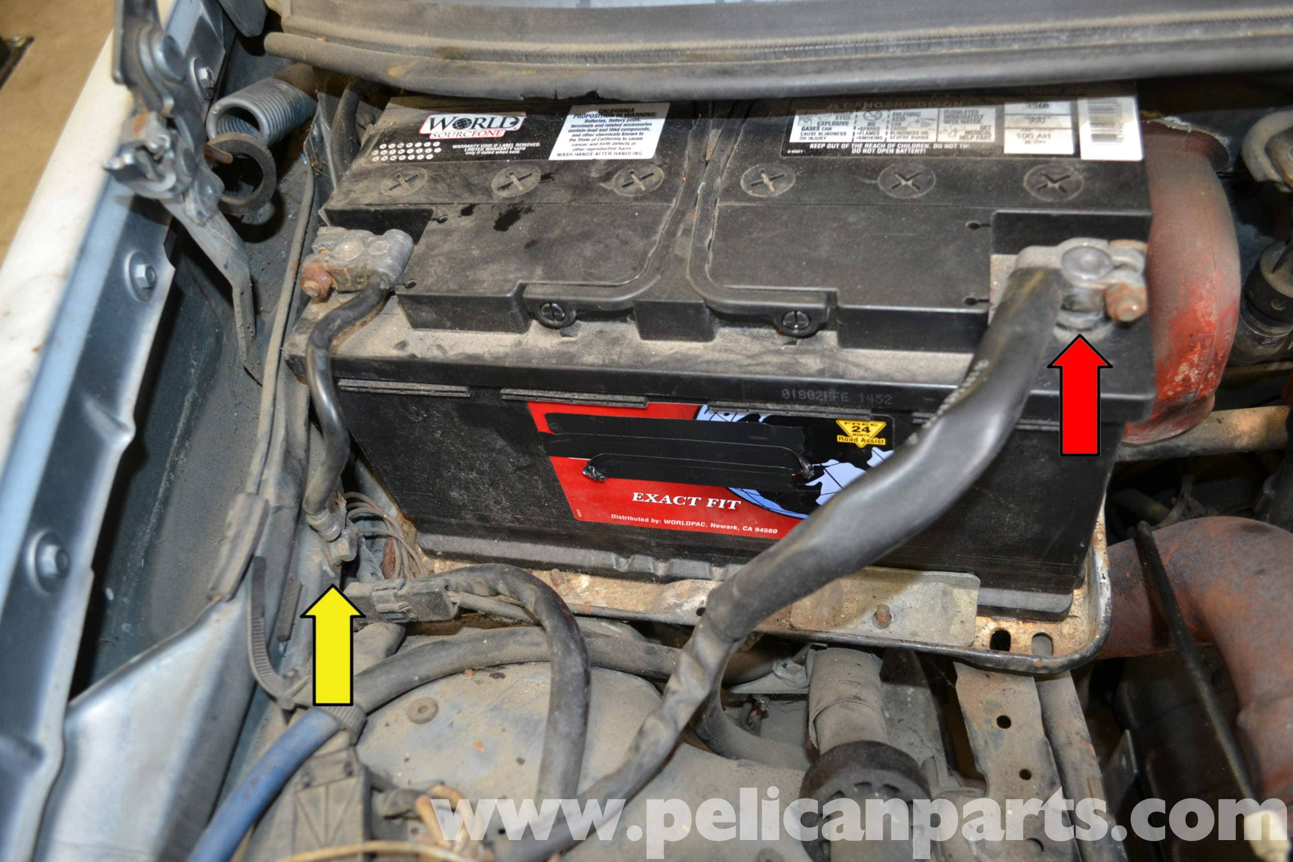 Wiring Harness Replacement : Mercedes benz w battery connection notes and
