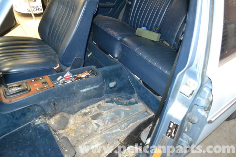 Mercedes benz w123 seat removal w123 1977 1985 pelican parts diy maintenance article for Mercedes benz replacement parts for the interior