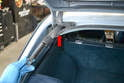 With the hatch safely supported you can remove the shock out from the opening by the hinge and insert the new one.