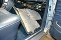 Drop the panel down and make sure it is free and clear of everything and remove it from the vehicle.
