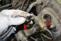 Your new master cylinder should come equipped with two new rubber grommets; if for some reason it does not, do not install it using the old grommets.
