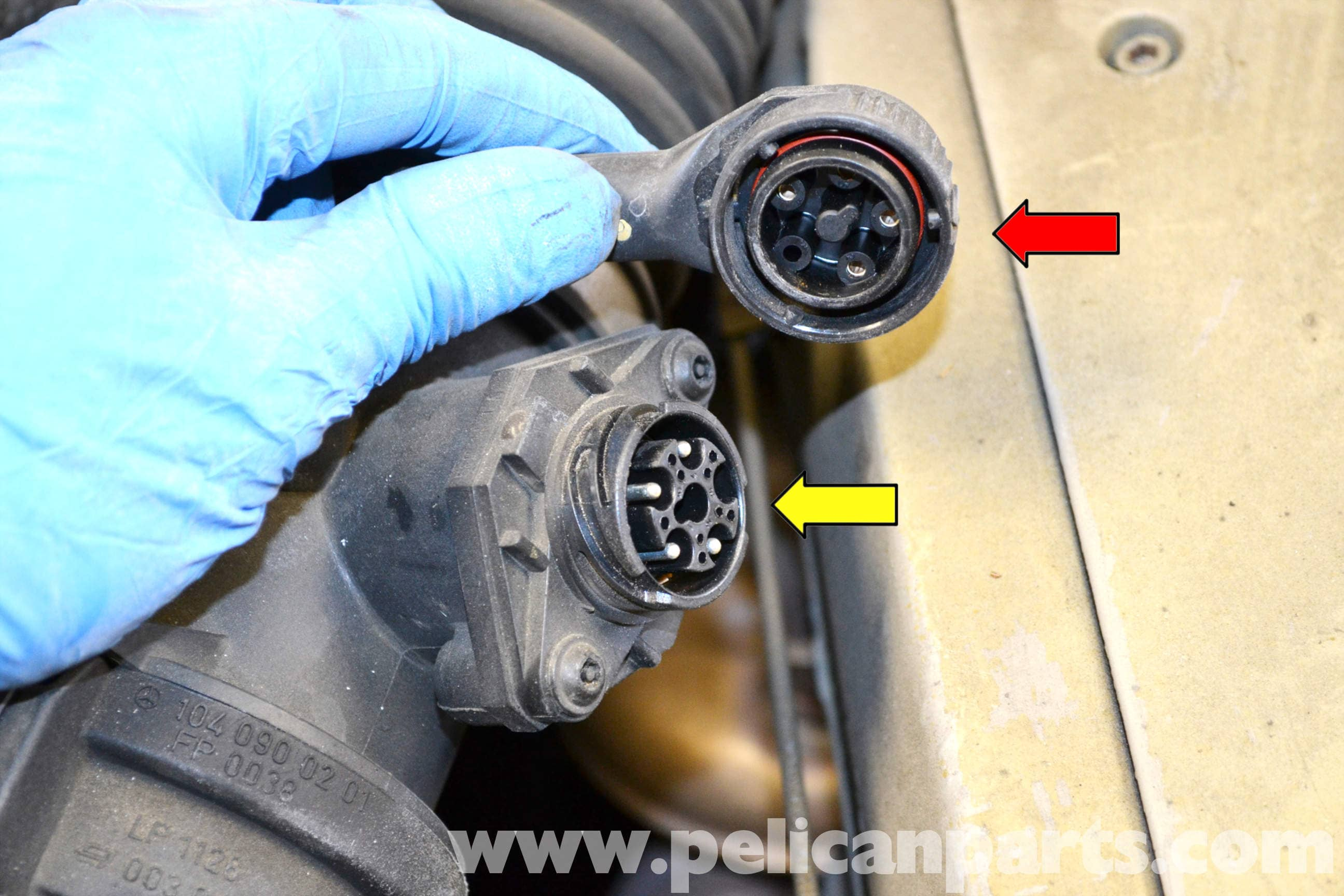 Mercedes-Benz W124 MAF Sensor Replacement | 1986-1995 E-Cl ... on mercedes wire color codes, mercedes timing marks, mercedes wiring color, international wiring diagram, taylor wiring diagram, toyota wiring diagram, vw wiring diagram, mercedes speedometer, mercedes-benz diagram, honda wiring diagram, mercury wiring diagram, nissan wiring diagram, kia wiring diagram, chevrolet wiring diagram, dayton wiring diagram, mercedes firing order, naza wiring diagram, dodge wiring diagram, mercedes electrical diagrams, freightliner wiring diagram,