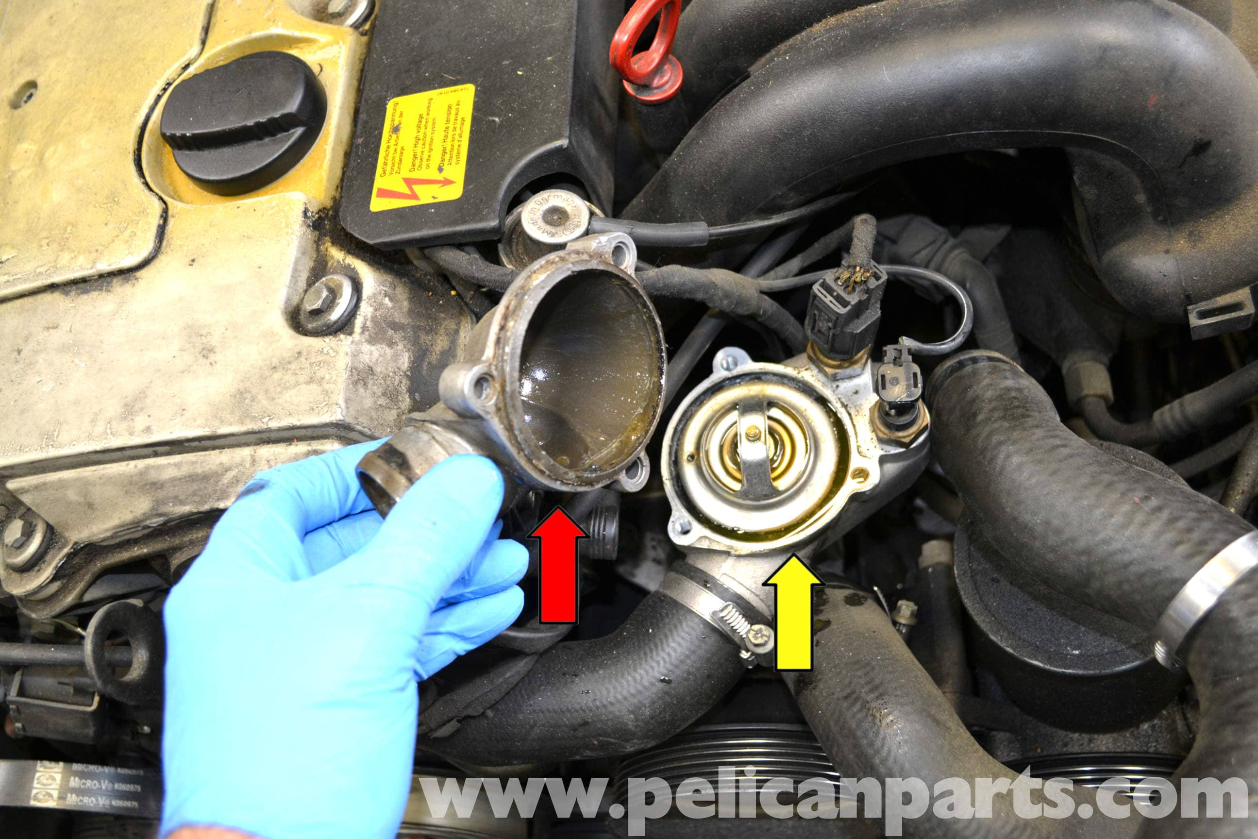 Mercedes Benz W124 Thermostat Replacement 1986 1995 E