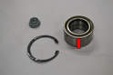 You should receive a new 30mm axle nut, circlip ring and bearing with your bearing.