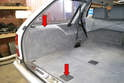 You will need access to both of the rear wheel interior covers as well as the rear bench seat.