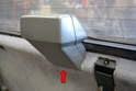 You do not need to remove the third brake light housing to remove the panel as it will separate around the housing (red arrow).