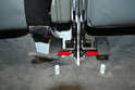 Rear Seat Backs: To remove the seats use two 13mm sockets and remove the nut and bolt holding it to the center mount (red arrows).