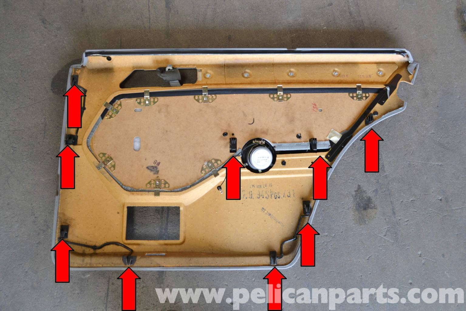 Mercedes Benz W124 Rear Door Panel Removal 1986 1995 E Class E300d Wiring Harness Large Image