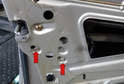 Use a 10mm socket and loosen but do not remove the two bolts (red arrows) for the vacuum element.