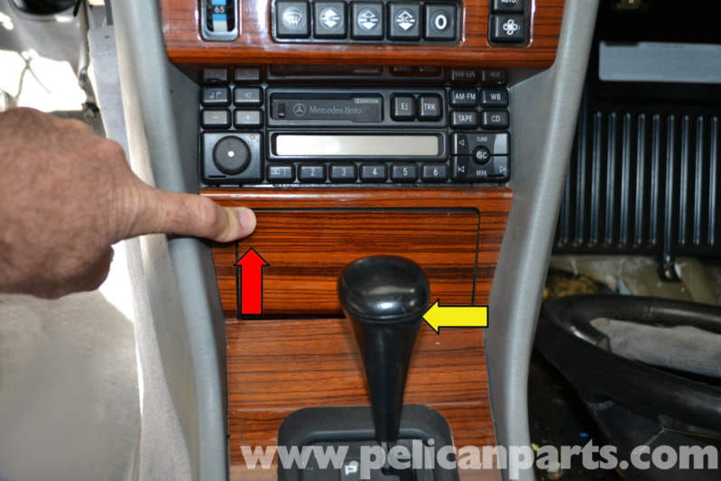 Mercedes benz w124 center console plate removal 1986 for Mercedes benz shift knob replacement