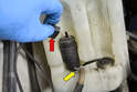Windshield Washer Pump- With the fluid drained below the pump level you can replace the pump.