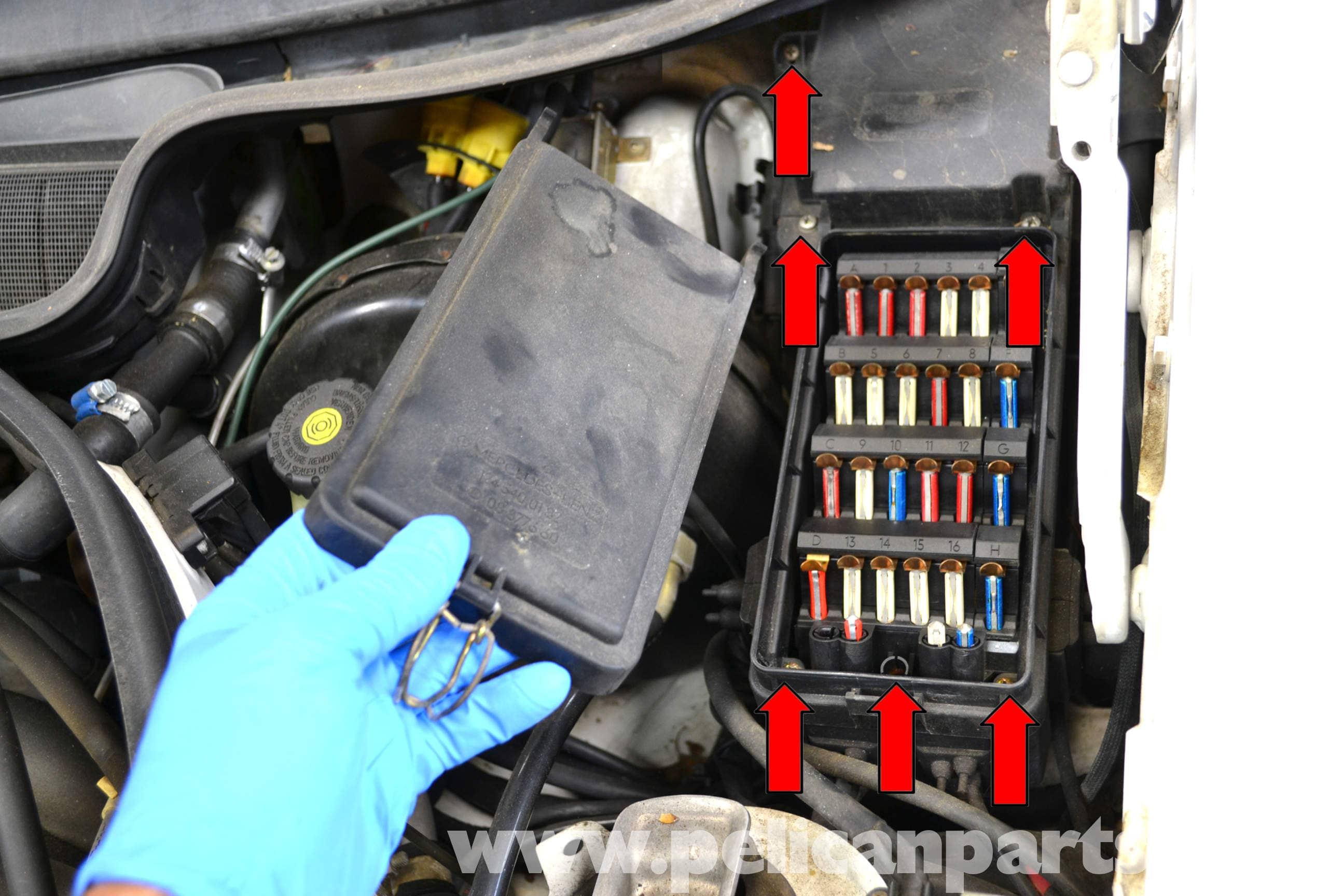 Mercedes Benz W124 Outside Air Temperature Sensor Replacement 1986 92 Volvo 940 Fuse Box Location Large Image Extra