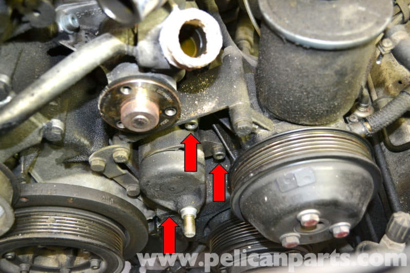 Mercedes-Benz W124 Drive Belt Tensioner Replacement | 1986