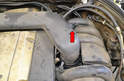 Disconnect the air intake temperature sensor (red arrow).