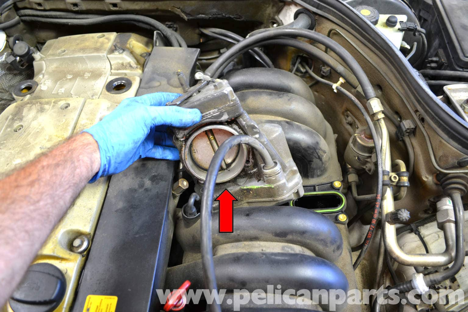 Mercedes-Benz W124 Throttle Cleaning and Replacement ... on