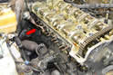 Remove the exhaust manifolds, EGR and air pump tubes.