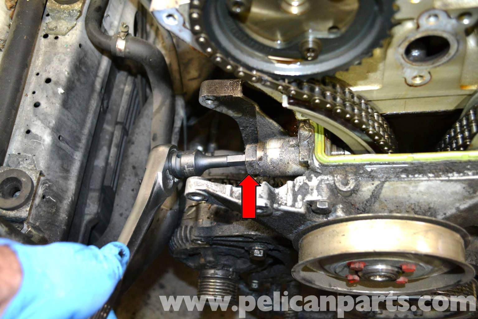 Mercedes Benz W124 Timing Chain Tensioner Replacement