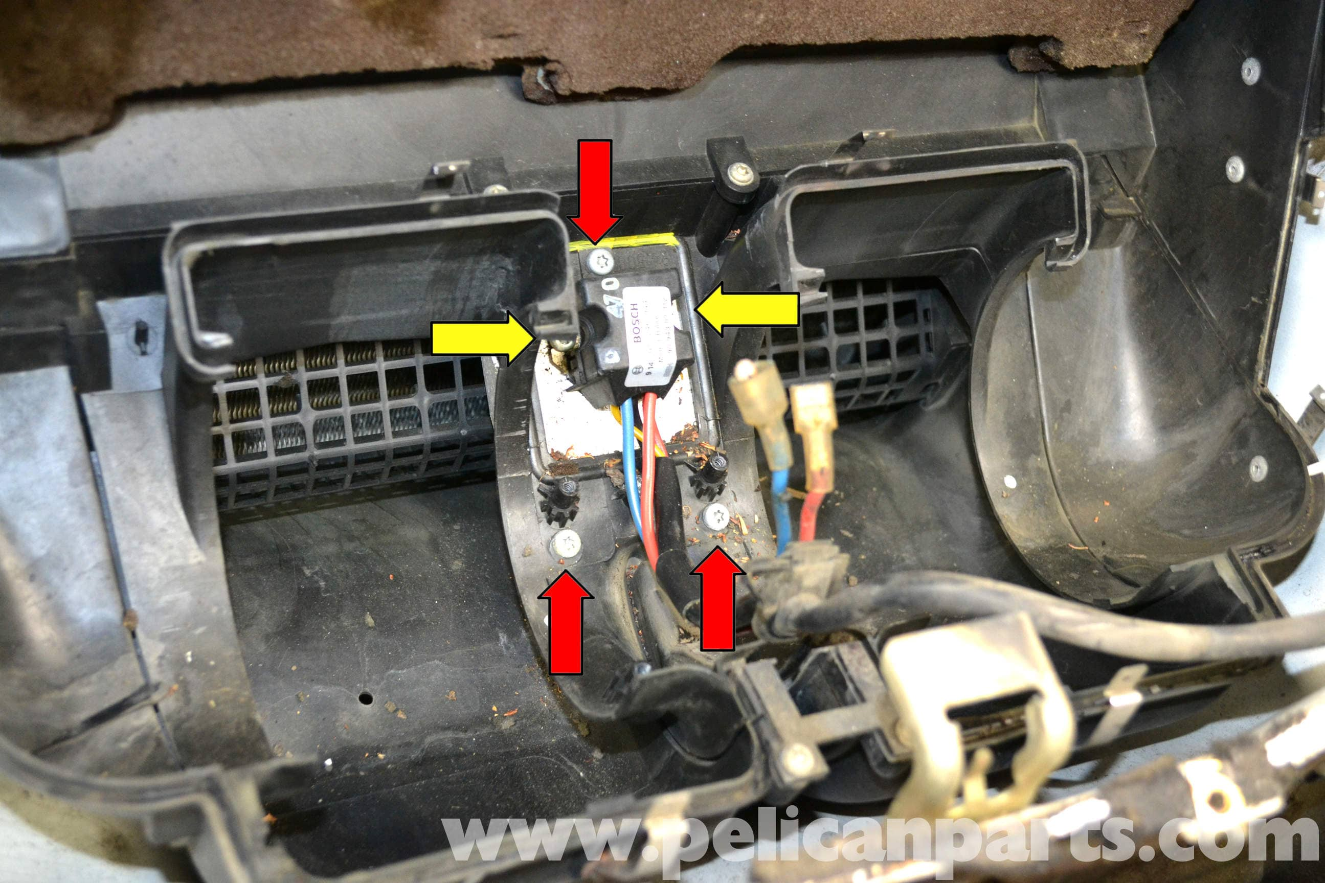 Mercedes-Benz W124 HVAC Resistor Replacement | 1986-1995 E-Class ...