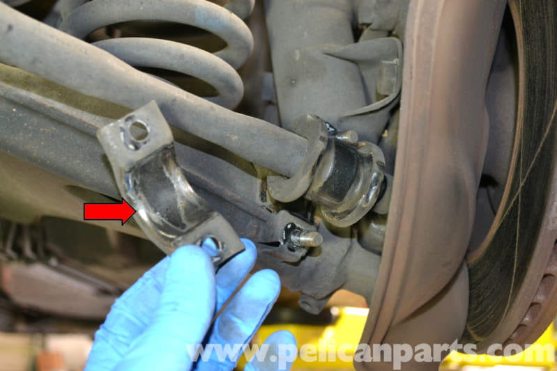 Mercedes Benz W124 Front Sway Bar Bushing Replacement