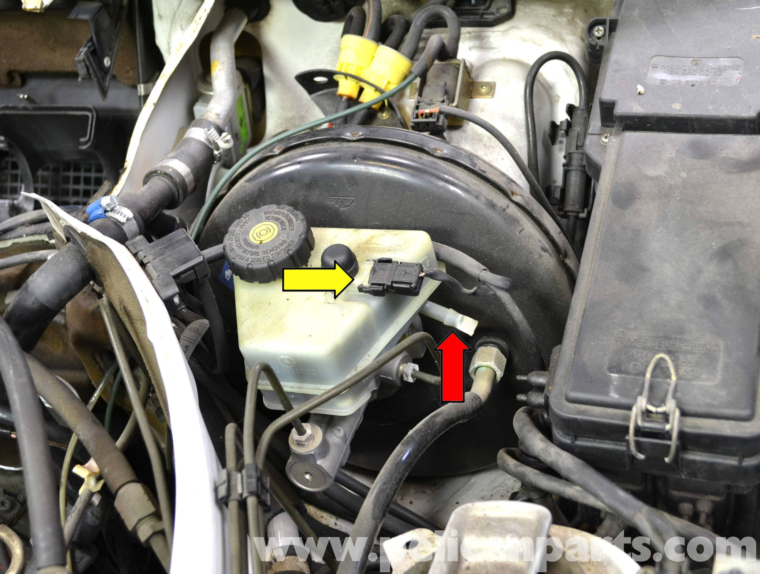 Mercedes Benz W124 Brake Master Cylinder and Reservoir