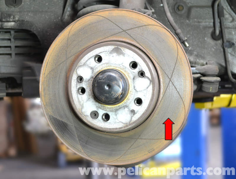 Disc Brake Rotors >> Mercedes-Benz W124 Front Brake Rotor Replacement | 1986 ...