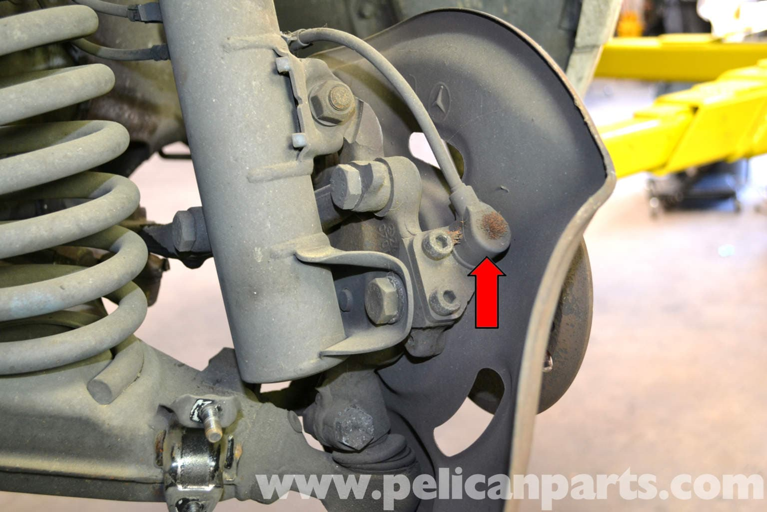 mercedes benz  abs wheel speed sensor replacement