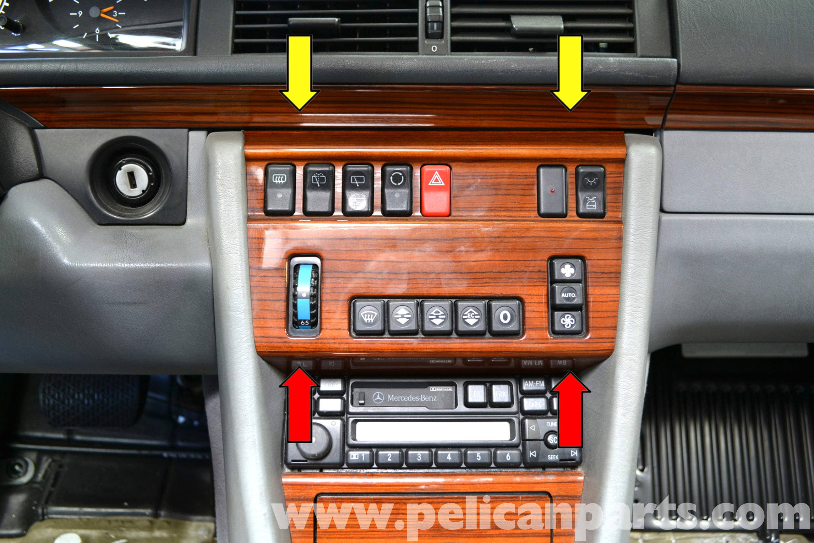 Mercedes benz w124 climate controls removal 1986 1995 e for Mercedes benz air conditioning problems