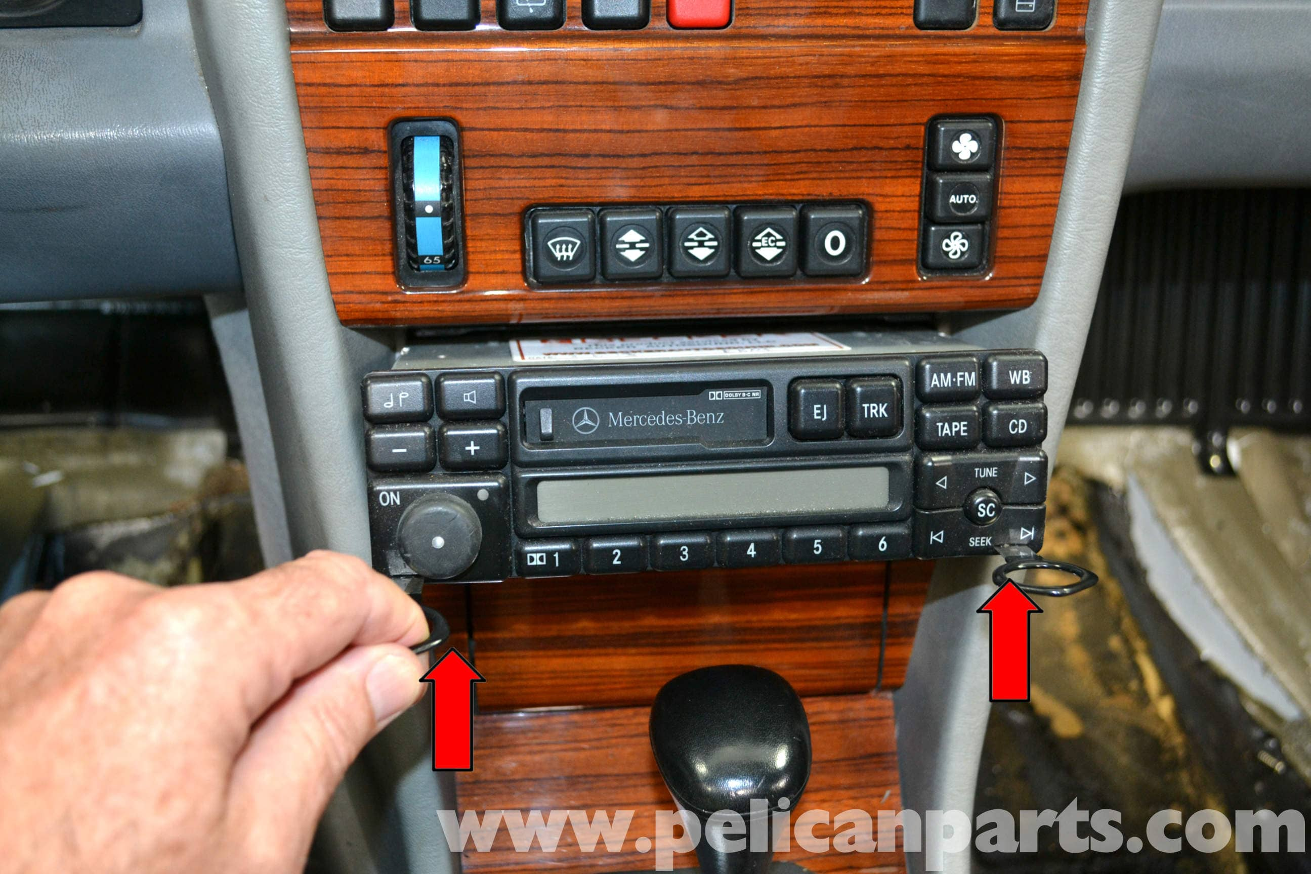Mercedes-Benz W124 Radio Removal | 1986-1995 E-Class | Pelican Parts ...
