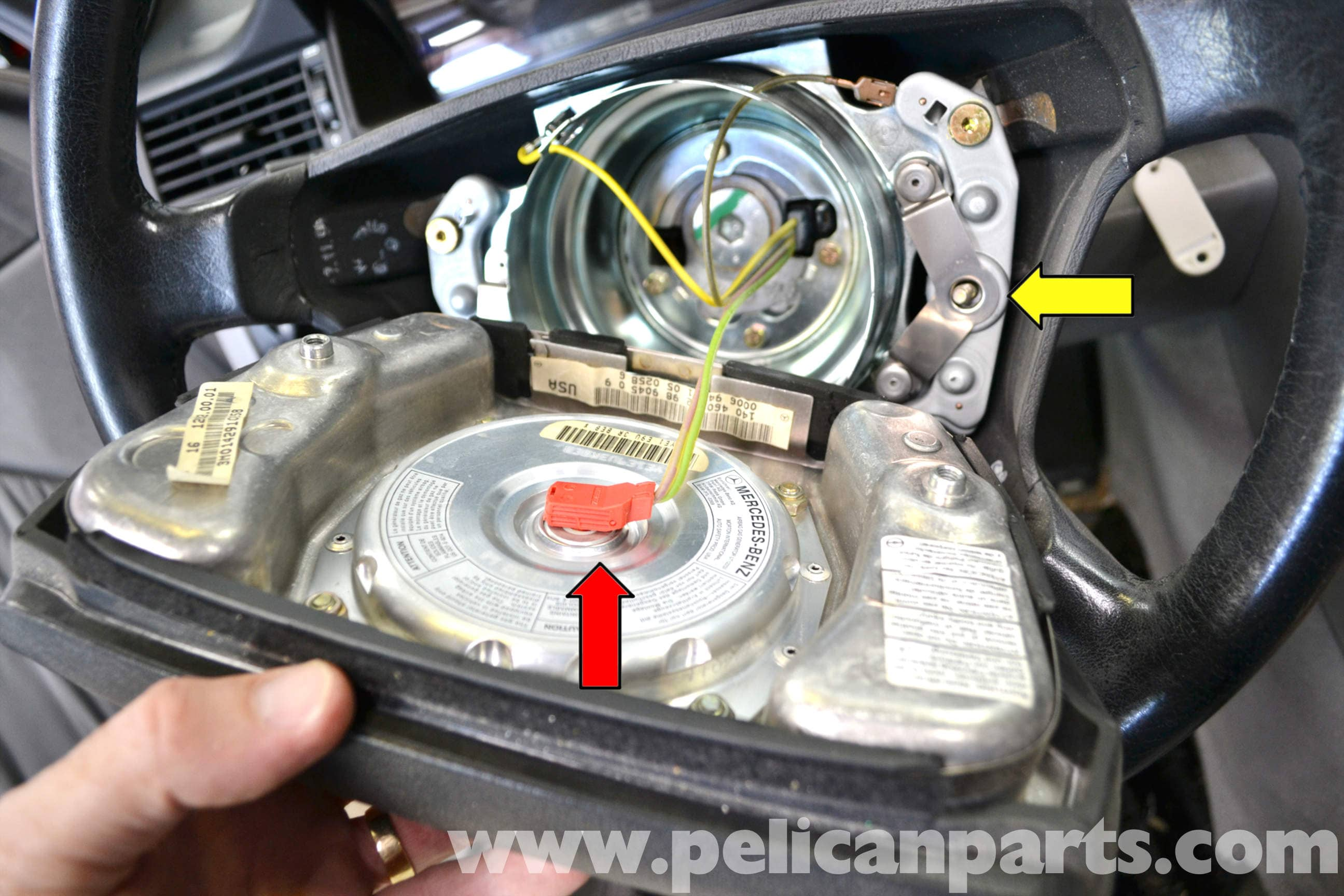 Mercedes Benz W124 Steering Wheel And Air Bag Removal