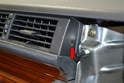 Center Vents: To remove the Philips head screw (red arrow) on the right side of the vent you will first need to remove the passenger side airbag.
