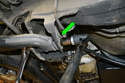 With the eccentrics scribed or marked (green arrow) use two 22mm sockets to loosen and remove the hardware.