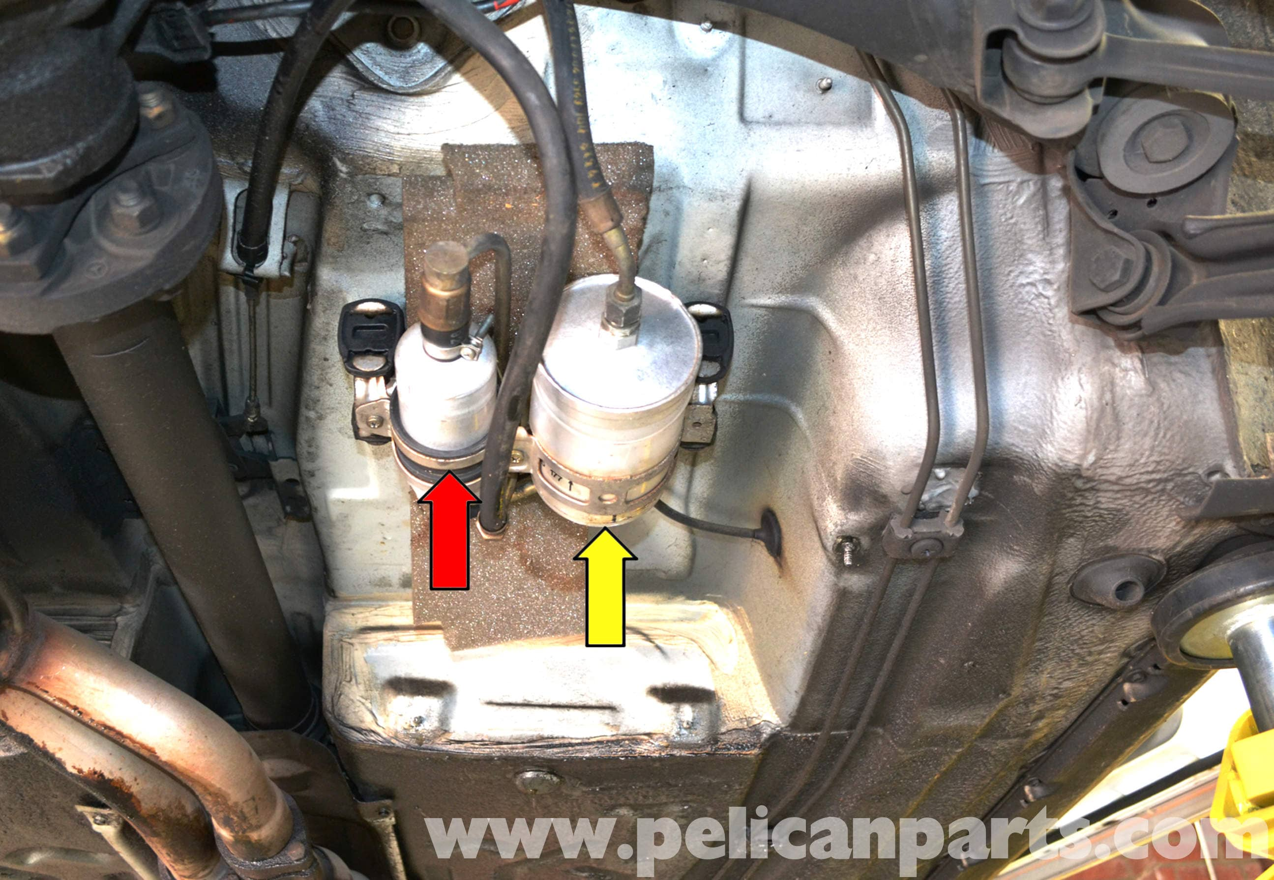 Mercedes Benz W124 Fuel Filter Replacement 1986 1995 E Class Dirty On Truck Large Image Extra
