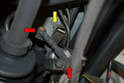 If you have a self-leveling rear suspension the leveling sensor attaches to the sway bar.