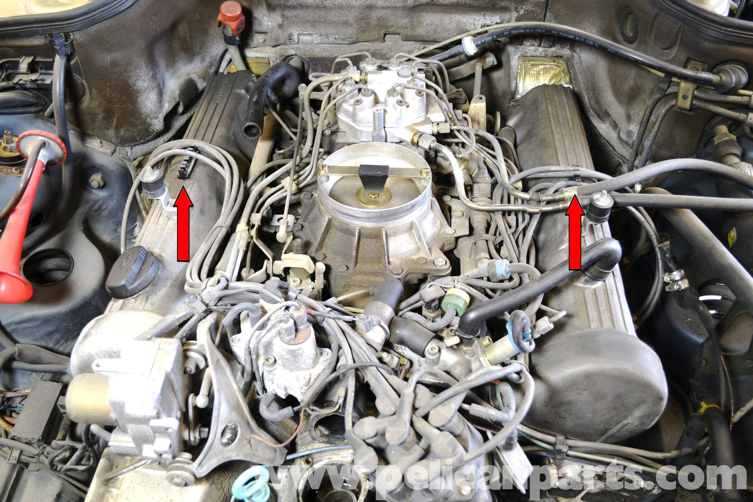 pic08 mercedes benz w126 ignition wires, rotor and distributor cap 2015 Mercedes 500SL at panicattacktreatment.co