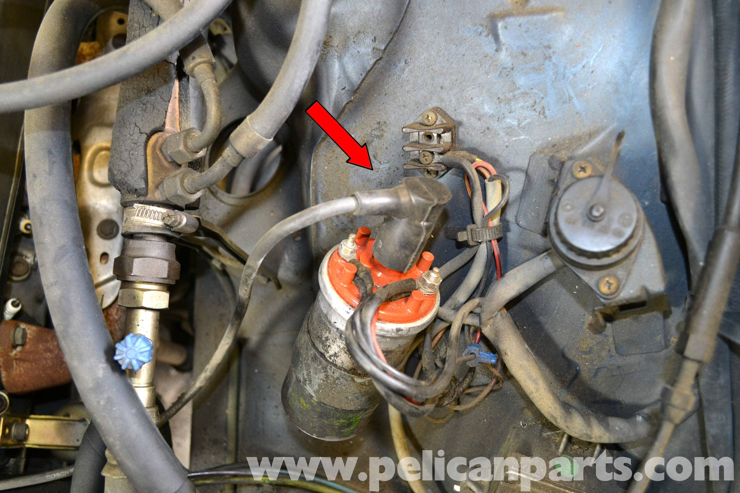 pic10 mercedes benz w126 ignition wires, rotor and distributor cap 2015 Mercedes 500SL at panicattacktreatment.co