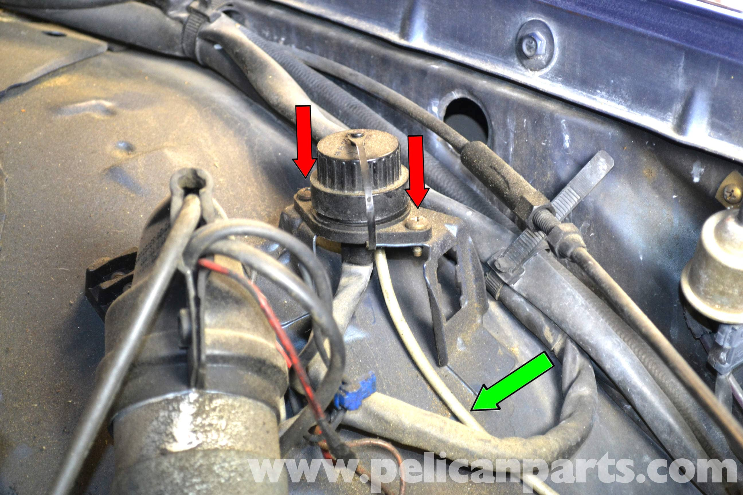 pic08 mercedes benz w126 top dead center sensor replacement 1981 1991  at eliteediting.co