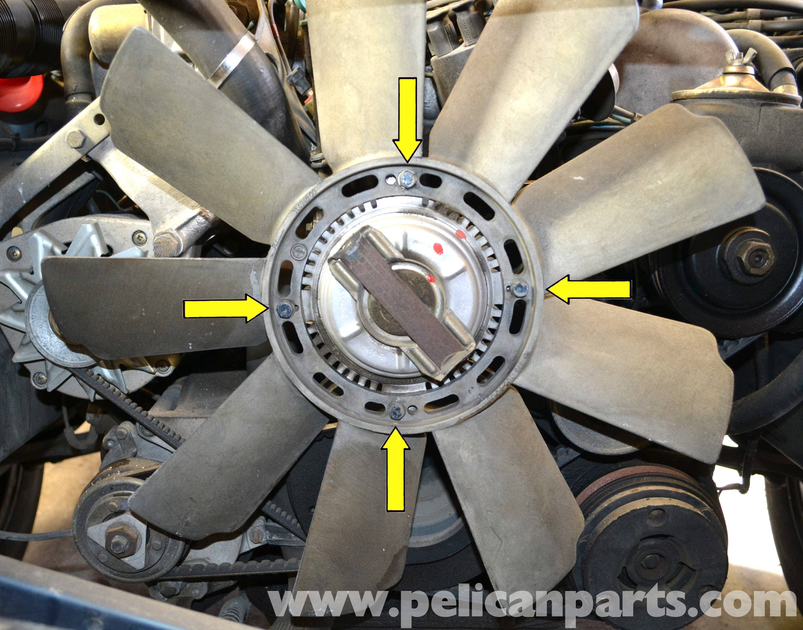 Mercedes Benz W126 Cooling Fan Replacement 1981 1991 S