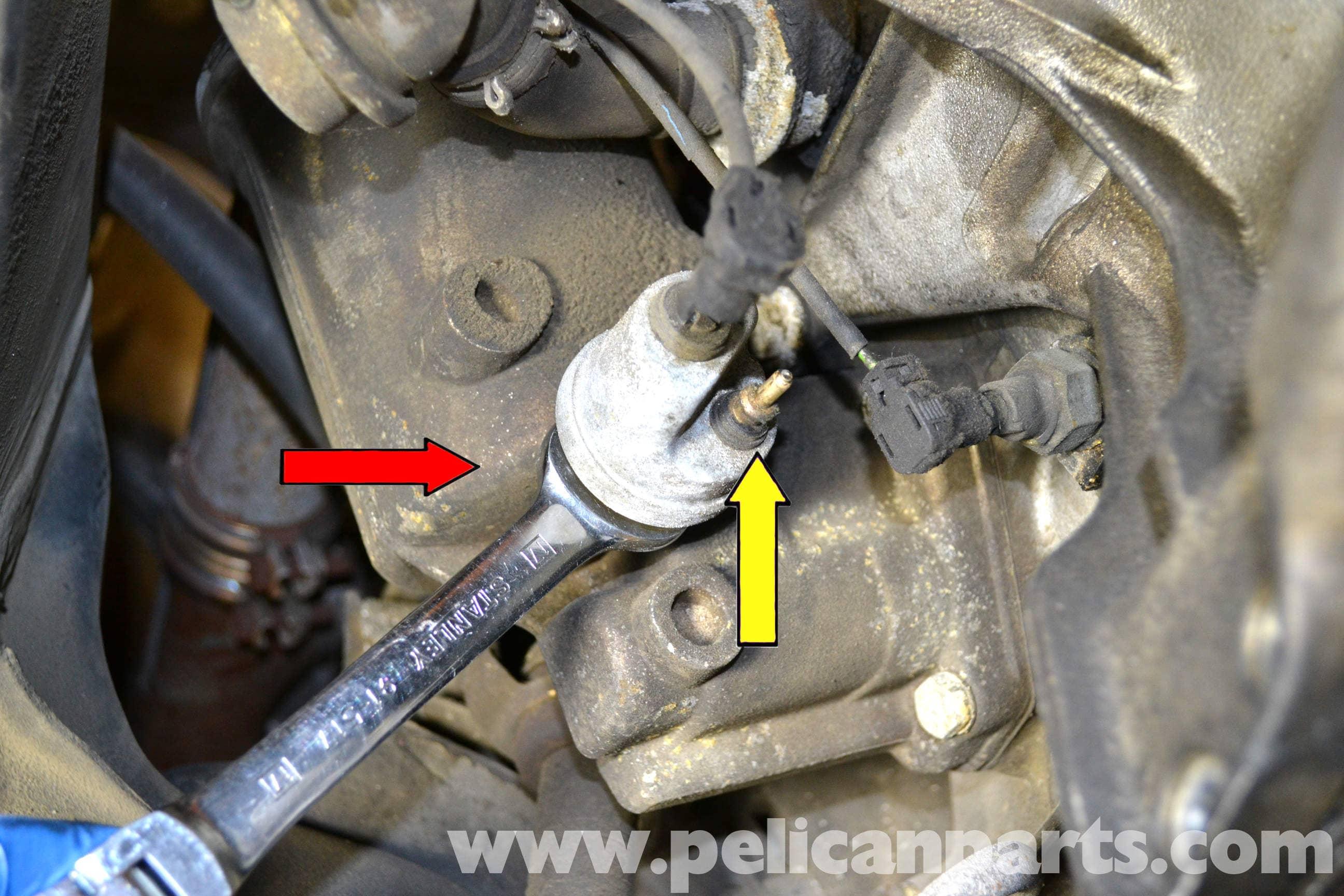 Mercedes Benz W126 Oil Pressure Sensor Replacement 1981 1991 S Class Pelican Parts Diy